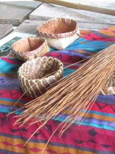 Pine straw baskets