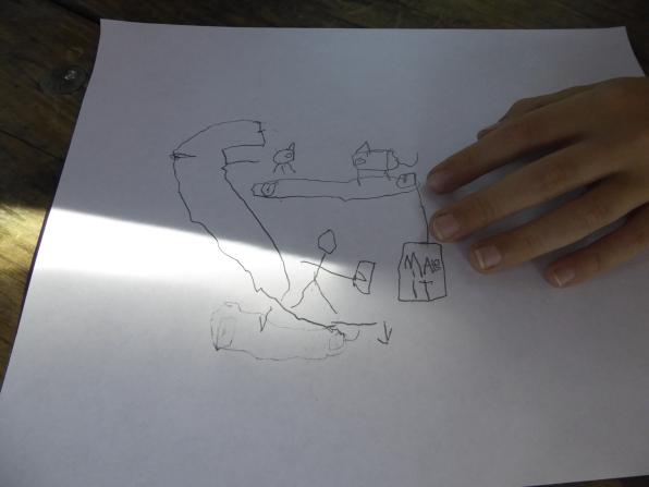 A Rube Goldberg-style contraption